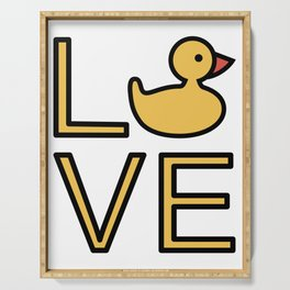 Love Ducks Super Cute And Very Fun Love Gift Idea Design Serving Tray