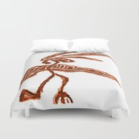 greg guillemin Duvet Covers featuring Rain Dancer by Greg Phillips by SquirrelSix