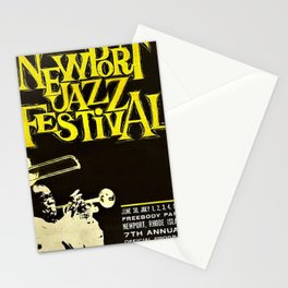 1960 Newport Jazz Festival Vintage Advertisement Poster Newport, Rhode Island Stationery Cards