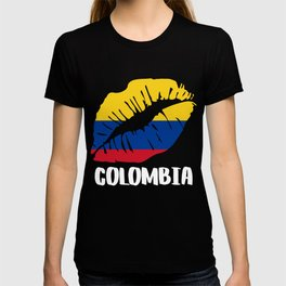 COL Colombia Kiss Lips Tee T-shirt