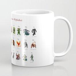 Monster Alphabet Coffee Mug