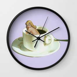 Her Name is Jo :) - lavender Wall Clock