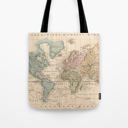 Vintage Map of The World (1823) V.2 Tote Bag