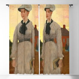 Winslow Homer's The Red School House (1873) Blackout Curtain