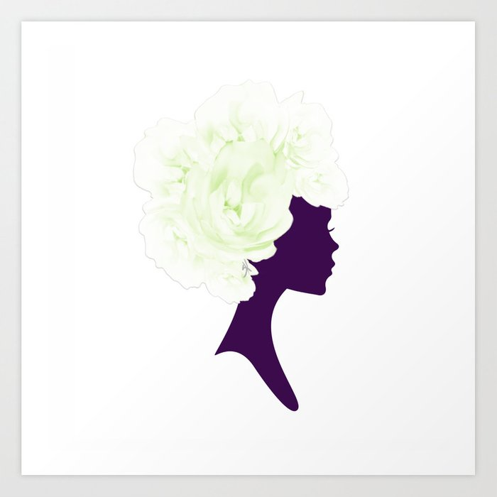 Rose Silhouette Art Print