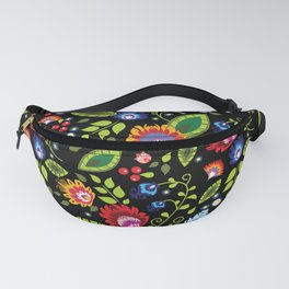 Folklore - multicoloured flowers and leaves Fanny Pack