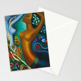 Mythological Sirens aquatic floral landscape by Joseph Stella Stationery Cards