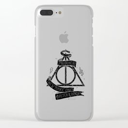 HarryPotter and the Deathly Hallows Clear iPhone Case