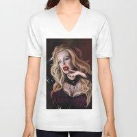 true blood V-neck T-shirts featuring Pam de Beaufort of True Blood by Jaime Gervais