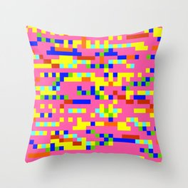 Pink Candy Camouflage Throw Pillow