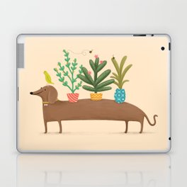 Dachshund & Parrot Laptop & iPad Skin