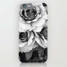 Black and White Roses Wall Decor- Surreal Black White Roses Flower Home Decor Slim Case iPhone 6s