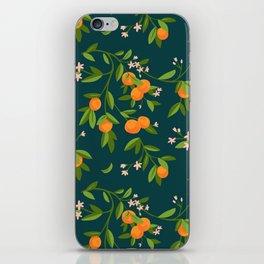 Citrus Tree - Navy iPhone Skin