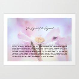 The Legend Of The Dogwood 5 Art Print
