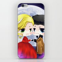 ouat iPhone & iPod Skins featuring OUAT - Chibi Captain Swan Dance by Yorlenisama