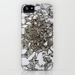 triangular foldings iPhone Case