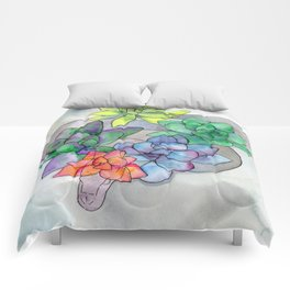 serpent and succulents Comforters