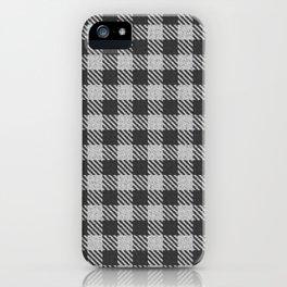 Grey Buffalo Plaid iPhone Case