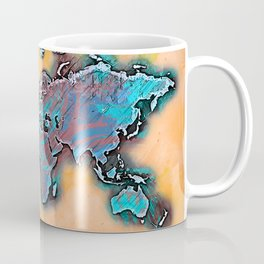 Abstract World Map Coffee Mug