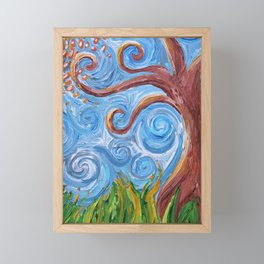 Curling Tree Framed Mini Art Print