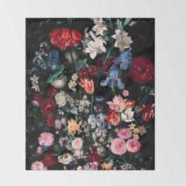 Midnight Garden XVII Throw Blanket