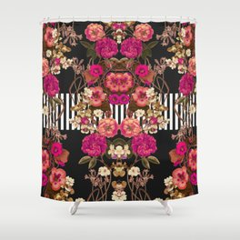 Floral Crossing Shower Curtain
