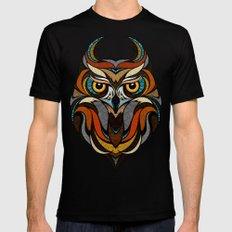 Oldschool Owl MEDIUM Mens Fitted Tee Black