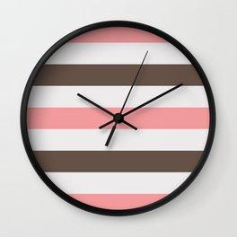 Neopolitan Rugby Stripe Wall Clock