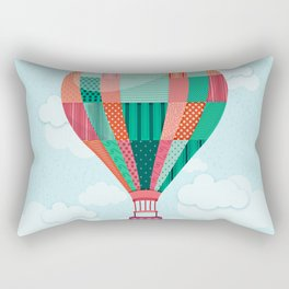 Hot air balloon in the sky Rectangular Pillow