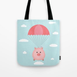 Baby Pig in a Parachute Tote Bag