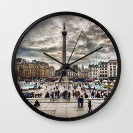 London Trafalgar Square art by @balazsromsics Wall Clock