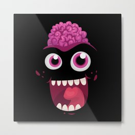 Happy Zombie Metal Print