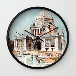 Vintage 1893 Chicago World's fair expo Wall Clock