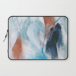 Blue and Copper Feathers Laptop Sleeve