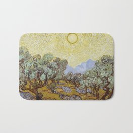 Vincent van Gogh - Olive Trees with Yellow Sky and Sun Bath Mat