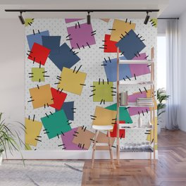 Multi-colored flaps Wall Mural