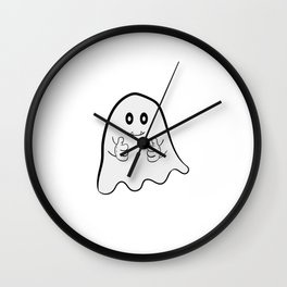 """""""I Hope Ghost Believe In Me"""" tee design. Cite and adorable tee that makes a nice gift to everyone! Wall Clock"""