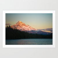 Mount Hood at Sunset, from Lost Lake Art Print