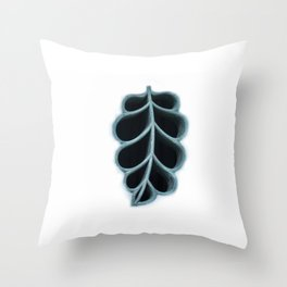 A window in a shape of a leaf, Chinese architecture, Shenzhen, China (2018-11SHZ29) Throw Pillow