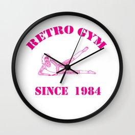 Retro Gym Wall Clock