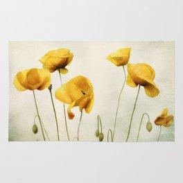 Yellow Poppies Rug