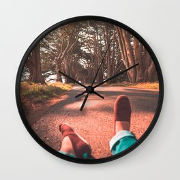 Chilling in The Tree Tunnel Wall Clock