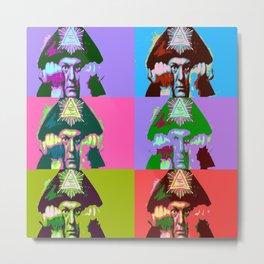 Aleister Crowley Pop Art Metal Print