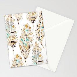 Boho Festival Feather Stationery Cards