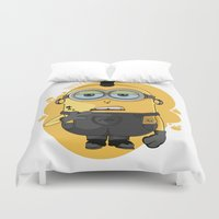 minion Duvet Covers featuring Minion Tattooist by Vanesa Abati