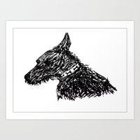 jack russell Art Prints featuring Jack Russell by Sinead Murphy