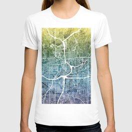 Atlanta Georgia City Map T-shirt