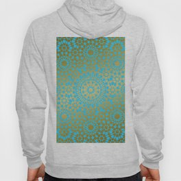 Moroccan Nights - Gold Teal Mandala Pattern 1 - Mix & Match with Simplicity of Life Hoody