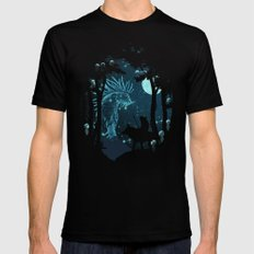 Forest Spirit MEDIUM Black Mens Fitted Tee