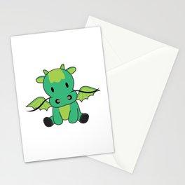 Dragon Green Fairy Tale Fantasy Cute Animals Stationery Cards
